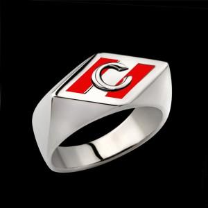 Серебряное кольцо Спартак